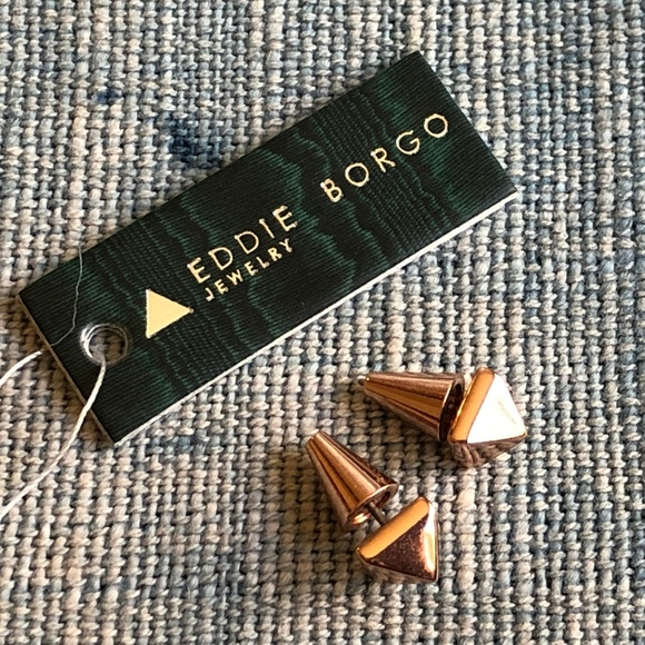 ed7a4c3c4 Eddie Borgo Jewelry | Rose Gold Plated Pyramid Stud Earrings | Poshmark